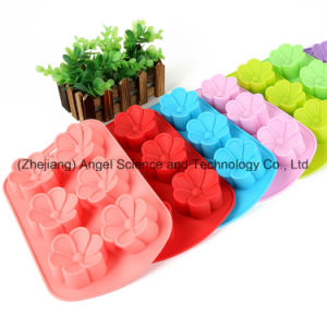 6 Flowers Silicone Chocolate Mold Cube Tray Baking Tool Sc34 pictures & photos