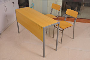 Simple Design Wooden Student Desk and Chair (SF-11D) pictures & photos