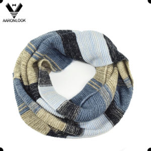 Hot Sale Trendy Ombre Knitted Stripe Snood Scarf pictures & photos