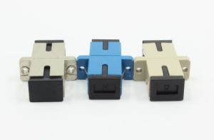 SC/PC Simplex Fiber Optical Adapter with Flange pictures & photos