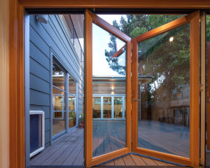 Aluminum Glass Folding Door with Laminated Glass pictures & photos