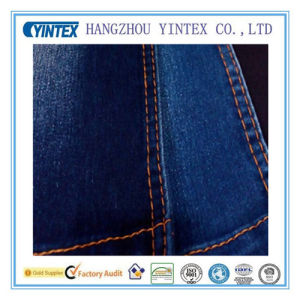 "57"" Blue Spandex Cotton Polyester Denim Fabric for Dress pictures & photos"
