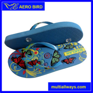 African PE Wholesaler Price Slipper Shoe with Colorful Strap (14G013) pictures & photos