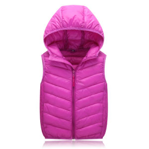 Ultralight Women Men Winter Down Vest Goose Down Jacket Made by Chinese Manufacturer 602