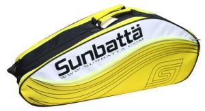 Sunbatta Yellow Black Badminton 6-Racket Bag (BGS-2135)
