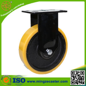 Black Bracket Fixed Caster Wheels pictures & photos