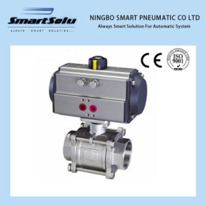 Screwed End Ball Valve Pneumatic Actuator Operated pictures & photos