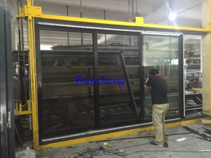 Double Glazed Aluminium Stacker Door Aluminium Stacking Door/Entrace Door pictures & photos
