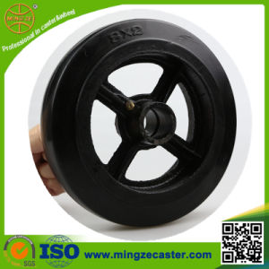Cast Iron Black Rubber Caster Wheel pictures & photos