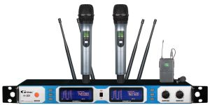July Sales Promotion True Diversity Long Distance Wireless Microphone H-201