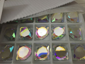 Diamond Shape Flat Back Glass Stones Beads pictures & photos