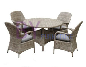 by-454 Hot on Sale Wicker Rattan Dining Set Outdoor Furniture pictures & photos