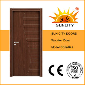 Modern Sample Design Solid Flush Wooden Doors (SC-W042) pictures & photos