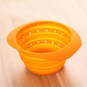 High Standard Food Grade Approved Folding Silicone Basket pictures & photos
