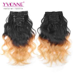 Body Wave Brazilian Ombre Clip in Hair Extensions pictures & photos