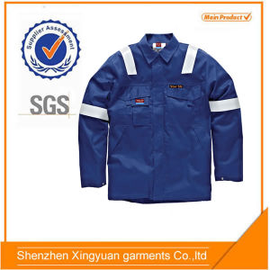 Cotton Flame-Retardant Welder Jacket with Reflective Tap