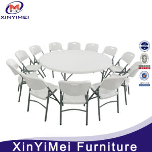 Plastic Round Banquet Table with 10 Seater pictures & photos