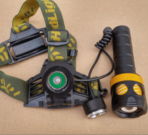 Dual Purpose Headlamp CREE T6 2000lm Rechargeable LED Torch Flashlight Headlight pictures & photos
