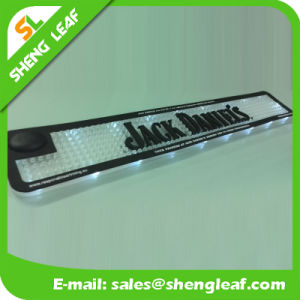 OEM Logo Soft PVC Rubber Bar Mat Illuminated LED Placemat pictures & photos
