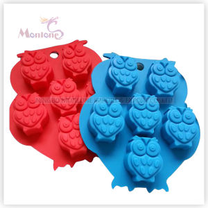 FDA & LFGB Bakeware Owl-Shaped Baking Silicone Cake Mold pictures & photos
