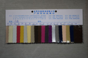 High Quality PU Shoe Leather (HST112) pictures & photos
