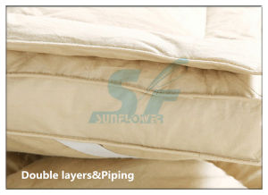 Cheap Polyester Goose Feather Filling Mattress Pad pictures & photos