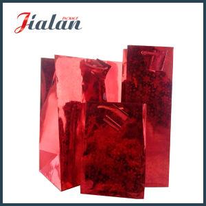 Custom Logo Printed Wholesales Cheap Made Hologram Film Paper Bag pictures & photos