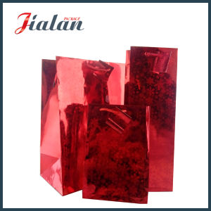 Different Sizes Custom Wholesales Cheap Made Hologram Film Paper Bag pictures & photos