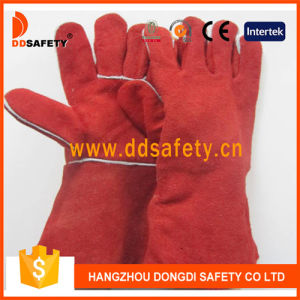 Ddsafety 2017 Red Cow Split Leather Welding Glove pictures & photos