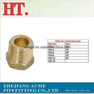 Brass Hex Head Plug (MIP) for Brass Plug Fitting pictures & photos