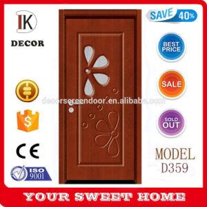 2015 Latest Design Wooden Interior MDF Room Door with Glass