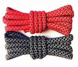 New Arriving Two Toned Color Rope How to Tie Shoelaces pictures & photos