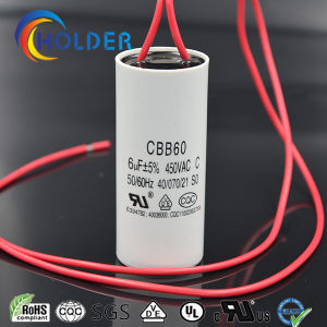 AC Motor Run and Start Capacitor for Air Conditioner Metallized Polypropylene (Cbb60 605j/450VAC) with Wire pictures & photos