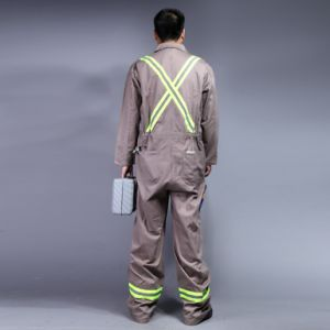 100% Cotton Zip Front Long Sleeve Safety Workwear (BLY1003) pictures & photos