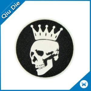 2D 3D Custom Velcro-Base Rubber Soft Glow Skull PVC Patch pictures & photos