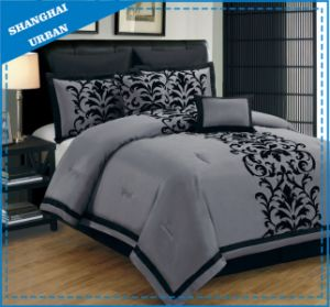 6 Piece Gray Totem Polyester Comforter Bedding Set pictures & photos