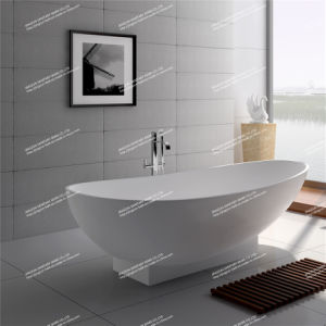 Modern Design Stone Resin Artificial Stone Freestanding Bathroom Mineral Bathtub (JZ8604)