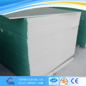 Waterproof Gypsum Board for Bathroom Kitchen/Water Resistant Plasterboard/Green Board1200*2400*12.5mm pictures & photos