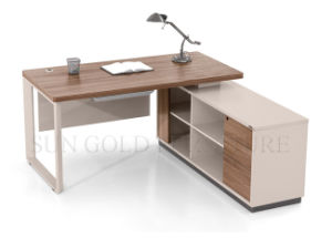 Modern Computer Table Photos Metal Frame Office Desk Furniture (SZ-ODB320) pictures & photos