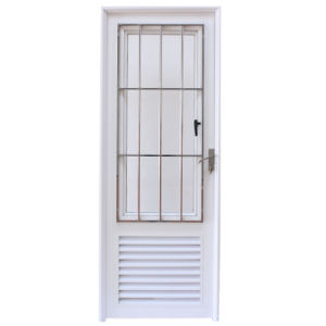 High Quality Aluminium Profile Casement Door with Stainless Steel Burglar Net K06034 pictures & photos