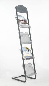 Office Metal Magazine Brochure Holder Floor Stand