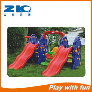 Elephant Playground Plastic Kids Slide with Swing pictures & photos