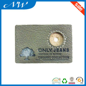 Professional Decorative Custom Cheap Jeans Leather Patches pictures & photos