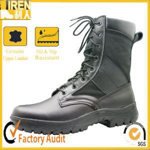 Genuine Cow Leather & Polyester Fabric Breathable Military Boot Military Jungle Boot pictures & photos