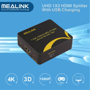 Mini 4kx2k HDMI Splitter 1X2 (No power adapter, USB Cable charger) pictures & photos