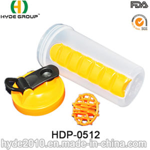 600ml Blender Shaker Bottle with Pill Boxes (HDP-0512) pictures & photos