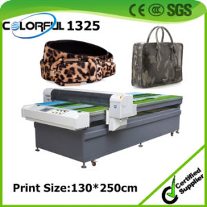 Guangzhou Supplier Excellent Print Effect Corium Leather Flatbed Digital Printing Machinery (colorful1325)