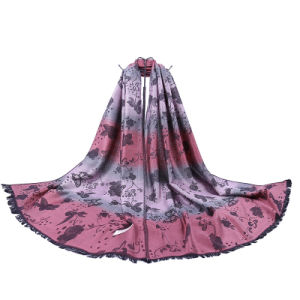 Women′s Butterfly Style Woven Long Scarf pictures & photos