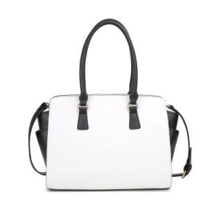 White and Black Fashion Handbag 2080-8