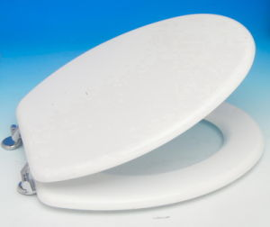 MDF White Toilet Seat Cover pictures & photos